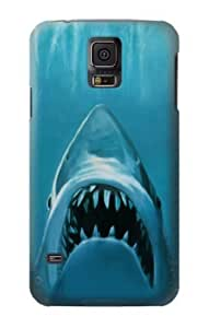 S0830 White Shark Case Cover for Samsung Galaxy S5