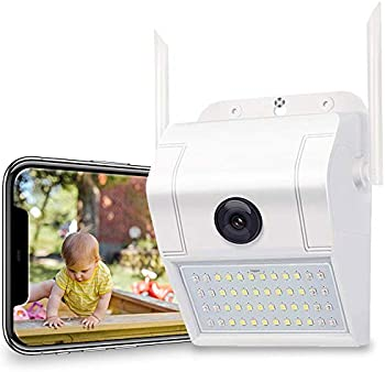 GH Dynamics 1080P 2.4G WiFi Night Vision Camera w/LED Motion Sensor Light