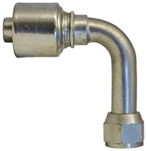 Gates 10G-12FJX90L MegaCrimp Couplings, Female JIC 37 Flare Swivel, Zinc Plated Carbon Steel, 4.56'', 5/8'' ID