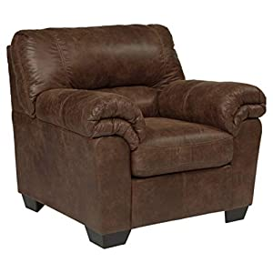 Signature Design by Ashley - Bladen Contemporary Plush Upholstered Arm Chair, Coffee Brown