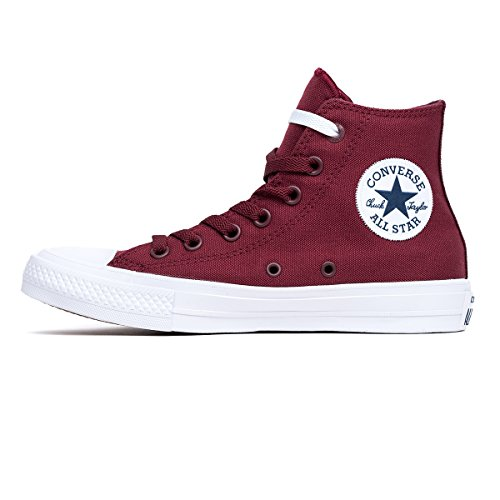 Converse Unisex Chuck Taylor All-star Casual Sneakers Alte In Stile Classico E Colore E Tomaia In Tela Resistente Profonda Bordeaux