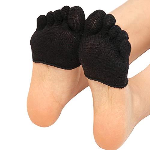 - Yoga Gym Non Slip Toe Socks Women Invisible Half Grip Heel Five Finger Socks