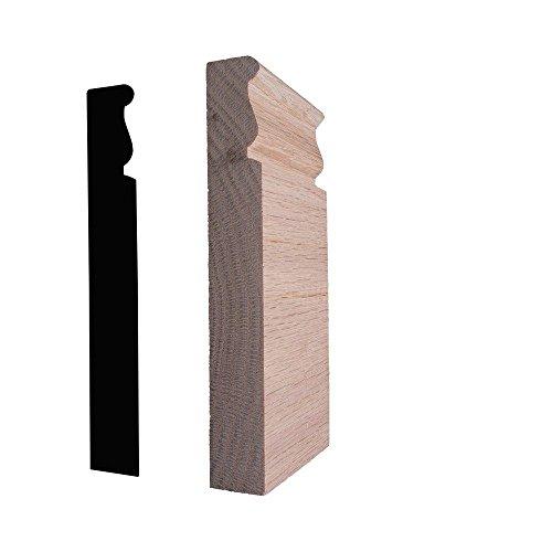 Alexandria Moulding 7/8 in. x 2-3/4 in. x 6 in. Oak Plinth Block Moulding ()