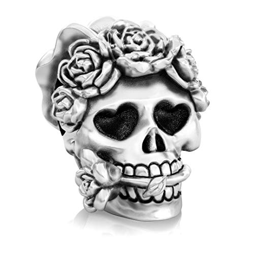 Authentic BELLA FASCINI - Bride - Till Death Do Us Part Wedding Skull Muertos Bead Charm - 925 -