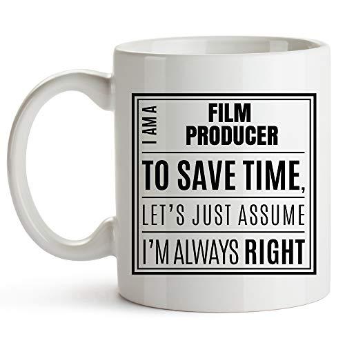 Film Producer Coffee Mug 11 oz - I Am A Film Producer. I'm Always Right - Film And Television Producer, Film and Music Producers Mug - Film & TV Producer Unique Coffee Mug - Film Producer Mug