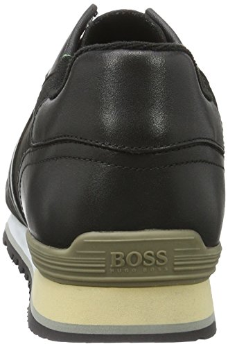 Black Sneakers Green Boss Boss Basses Homme Noir Parkour Green 001 wHqx8xCp