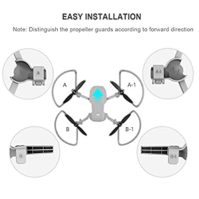 iEago RC Propeller Guard Protector with Foldable Landing Gear Anti-Collision and Buffer Protection Ring for DJI Mavic Mini Cover Drone Accessories (Gray): Car Electronics