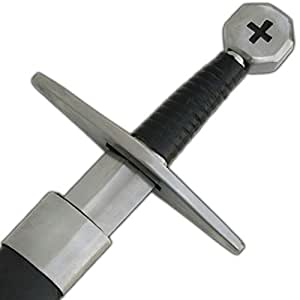 Medieval Warrior Crusader Holy Cross Knights Templar Long Sword Carbon Steel Razor Sharp
