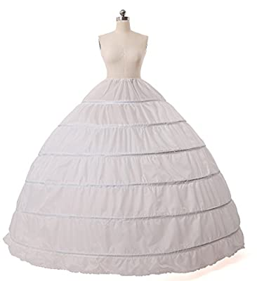 MISSYDRESS Full A-line 6 Hoop Floor-length Bridal Dress Gown Slip Petticoat