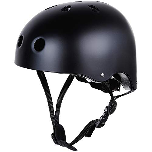 Zacro Skateboard Helmet, CPSC and CE Certified Youth Helmet for Multi-Sports, Cycling, Skateboarding, Scooter Roller, One Sport Headwear Included, Fits for 55-58cm Head Circumference(Size M)