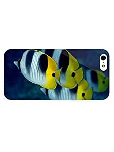 3d Full Wrap Case for iPhone 5/5s Animal Butterflyfish25