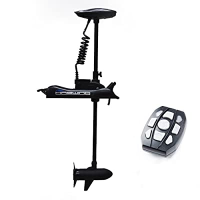 Haswing01 Cayman 12v 55lbs Bow Mount Electric Trolling Motor Black 54""