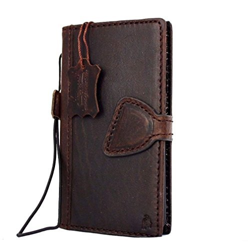 Genuine vintage Leather Case for Samsung Galaxy S5 Active Book Pro Wallet magnet cover brown thin Handmade Retro slim DavisCase (Galaxy S5 Leather Case Brown)
