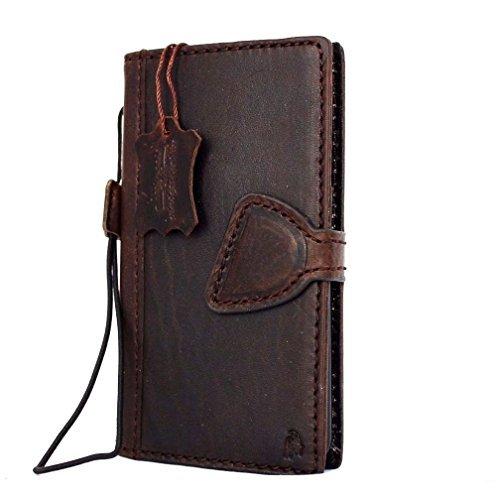 Genuine vintage Leather Case for Samsung Galaxy S5 Active Book Pro Wallet magnet cover brown thin Handmade Retro slim DavisCase