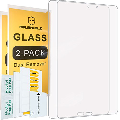 [2-PACK]-Mr Shield For Samsung Galaxy Tab A 10.1 With S Pen (2016) [Tempered Glass] Screen Protector [0.3mm Ultra Thin 9H Hardness 2.5D Round Edge] with Lifetime Replacement Warranty