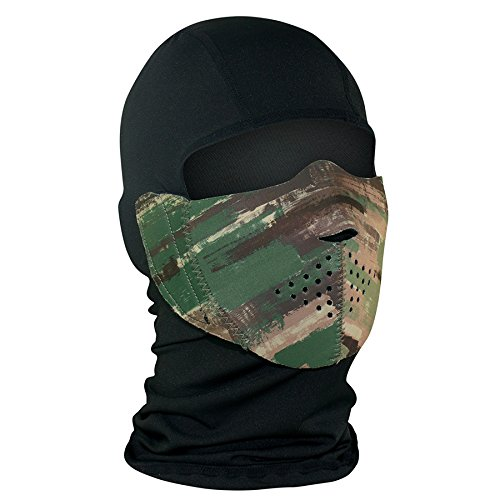 ZANheadgear WBNFM128H Unisex-Adult Modi-Face Accessory (Detachable Mask Neoprene Multi Brushed Camo)(Multicolor, One Size) by Zanheadgear (Image #1)
