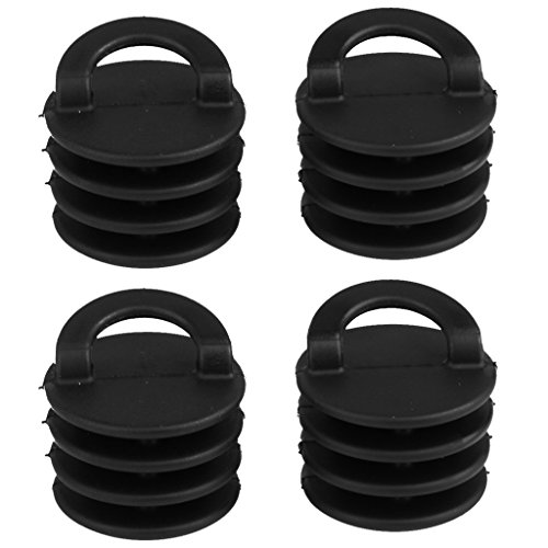 Dovewill 4 Pieces Durable Black Plastic (2 Sizes) Scuppers Plugs Bungs Drain Hole Stoppers Replacement Accessories for Sit on Top Kayak/Inflatable Boat/Marine Boat/Canoe/Dinghy - Large -  0270f79a4dd83e615764b74fc8b53d2d