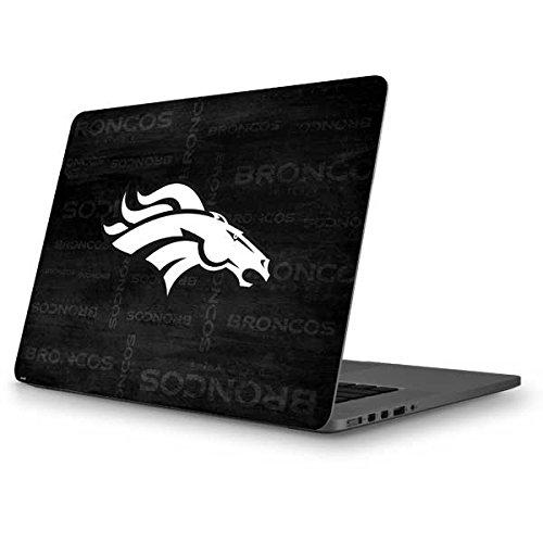 Skinit NFL Denver Broncos MacBook Pro 13 (2013-15 Retina Display) Skin - Denver Broncos Black & White Design - Ultra Thin, Lightweight Vinyl Decal Protection by Skinit
