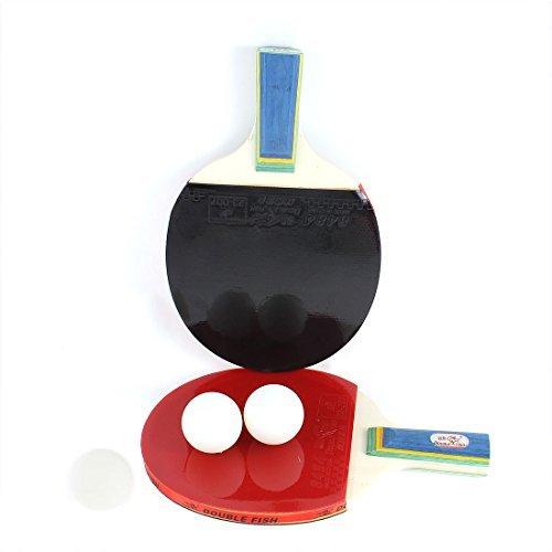 Enduit Racket Trois Set Rouge Table Noir Bois En Rubber W Tennis Boules tXq6nP