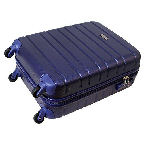 Karry Handgepäck Bordgepäck kabinentrolley Hartschalen Koffer für Kurzreisen Urlaub Reisen Businesskoffer Trolley Case TSA Schloss 30 Liter Saphir Blau 815