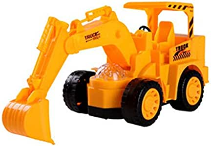 Child Boy Birhtday Toy Gift Electric Excavator Cars Flashing LED Light Kids Children Developmental Music Car Toy