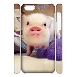 Cute pig Cheap 3D Hard Back Cover Case for iPhone 5C, Cheap Cute pig 3D Cell Phone Case