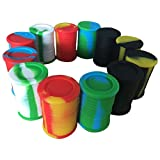 Gentcy Non Stick Silicone Oil Drum Barrel Containers Dab Jar Wax 9ML 5pcs