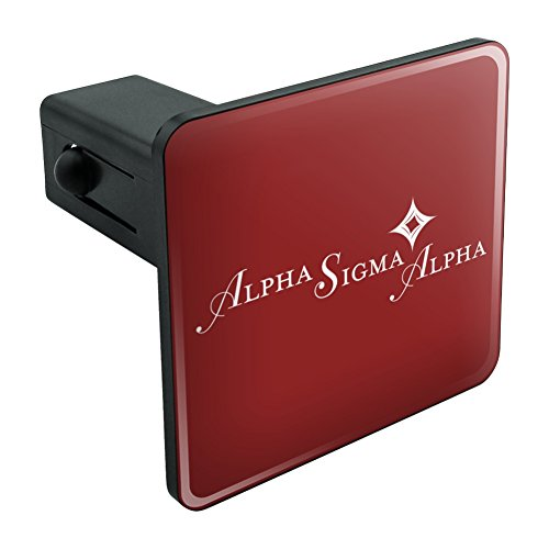 Graphics and More Alpha Sigma Alpha Sorority Logo Fraternity Tow Trailer Hitch Cover Plug Insert 1 1/4 inch - Hitch Trailer Alpha Covers
