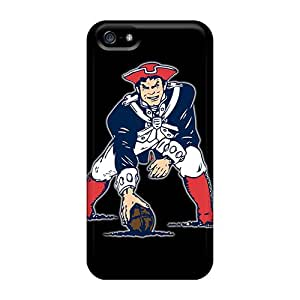Iphone 5/5s Hard Back With Bumper Silicone Gel Tpu Case Cover New England Patriots