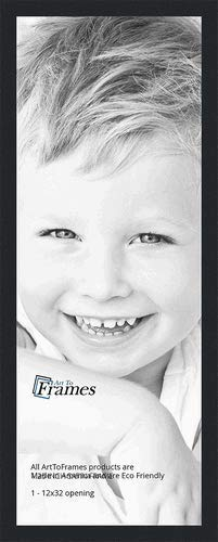 Amazoncom Arttoframes 12x32 Inch Satin Black Picture Frame