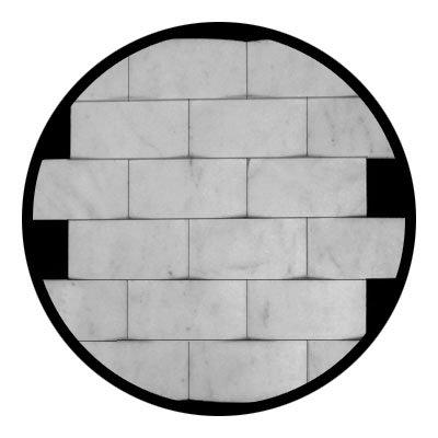 Carrara Marble Italian White Bianco Carrera 3d Cambered 2x4 Mosaic Tile Honed -