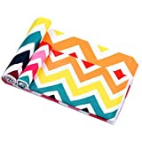 Winthome Microfibre Beach Towel - Quick Dry, Lightweight, Absorbent, Compact Retro Stripe Design (2 pack:50x100cm and75x150cm)