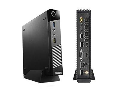 Lenovo ThinkCentre M73 Tiny Desktop, Intel Core i3-4150T 3. 0Ghz, 4GB DDR3 RAM, 256GB SSD, Wifi, Bluetooth, Dual Monitor Capable, Windows 7 Pro + Windows 10 Pro License