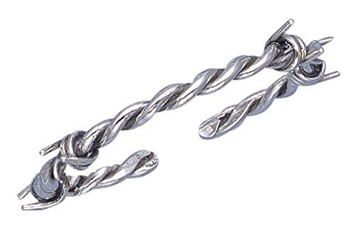 Sterling Silver Barbed Wire Design Cuff Bracelet