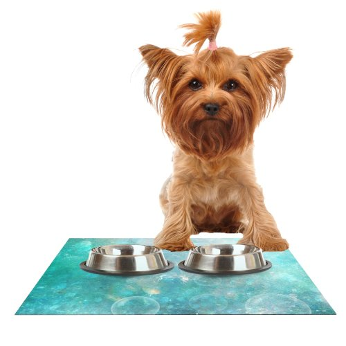 Kess InHouse Sylvia Cook Happily Ever After  Feeding Mat for Pet Bowl, 18 by 13-Inch