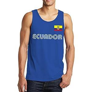 SpiritForged Apparel Ecuador Soccer Jersey Men's Tank Top, Royal XL
