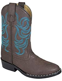 Smoky Mountain 1623 Childrens Monterey Western Cowboy Boots, Brown/Blue - 6 M US Toddler