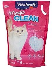 Vitakraft Magic Clean Sabbia Lettiera per gatti in silicio 100% naturale, assorbiodore, puo' essere smaltita con i rifiuti organici 5 l