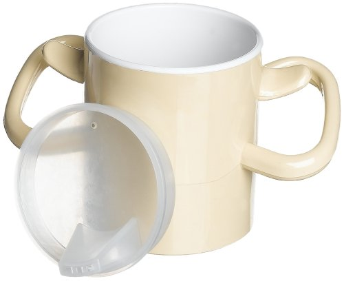 Ableware Artho Easy-to-Grasp Thumbs-Up Lightweight Drinking Cup with Lid