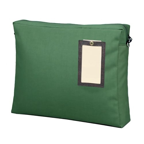 MMF  Industries Gusseted Reusable Mailer - Expansion - 18'' x 11'' - Nylon - Green, 1 Each (2342411L02) by MMF Industries