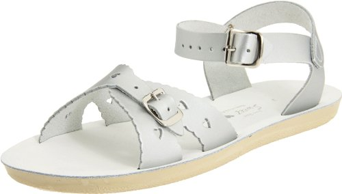Water Sweetheart Kid's Silver Child Salt Flat Sandals 06Uwnqxq