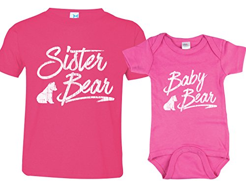 Sister Bear, Baby Bear TShirt, Girl Shirts, Includes Adult Small & 3-6 m