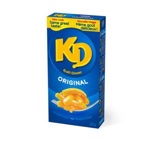 KD Kraft Dinner Original Macaroni and Cheese, 225g {Imported from Canada} (Kraft Dinner From Canada)