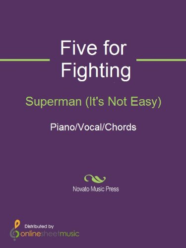 Superman Its Not Easy Kindle Edition By Five For Fighting Arts