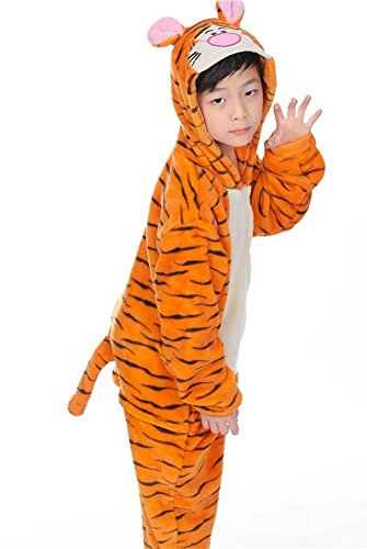 OVOV Kid's Animal Onesie Cosplay Costume Pajamas Unisex Child Sleepsuit for Party and Halloween Christmas Boys (Simple Cosplay Costumes For Kids)