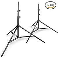 Emart 8.5ft Photography Light Stands for Photo Video Studio and Product Portrait Shooting - 2 Pack