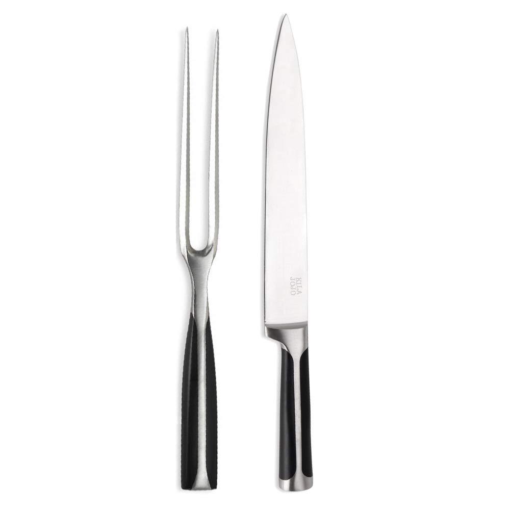 Kilajojo Chef Pro Stainless Steel Carving Knife and Fork Set by KILA JOJO