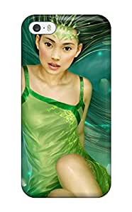 For Iphone 5/5s Premium Tpu Case Cover Green Fairy Protective Case