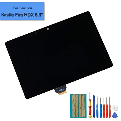 for Amazon Kindle Fire HDX 8.9 inch 90PIN Replacement Touch Screen GU045RW LCD Front Panel Assembly + Adhesive&Tools