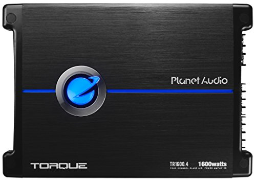 4 Torque 1600 Watt, 4 Channel, 2 to 8 Ohm Stable Class A/B, Full Range, Bridgeable, MOSFET Car Amplifier with Remote Subwoofer Control ()